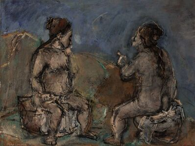 Max Weber, 'Two Chatting Women', circa 1940