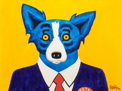 George Rodrigue, 'I Am Just a Regular Red-Blooded American', 1996