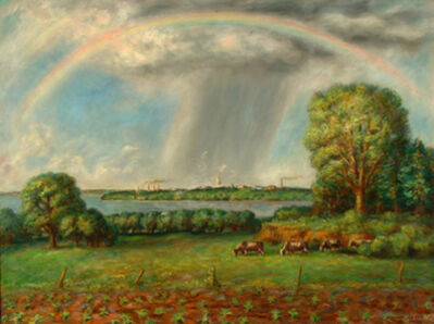 John Steuart Curry, 'Rainbow and View of Madison ', 1937
