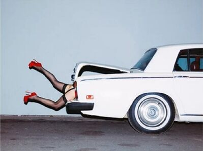 Tyler Shields, 'Rumer In The Boot', 2014