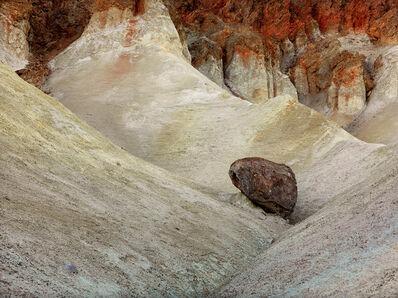 David G. Peterson, 'Dark boulder, eroded cliff, #2, Death Valley National Park', 2012