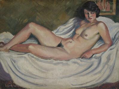 Ludovic-Rodo Pissarro, 'La Brune au Tableau de Nu', 1910