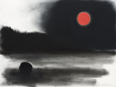 David Nash, 'Boulder and Blood Moon', 2015