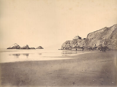 Carleton E. Watkins, 'Cliff House from the Beach, San Francisco', 1869