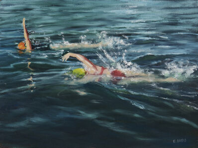 Eileen David, 'Two Swimmers', 2019