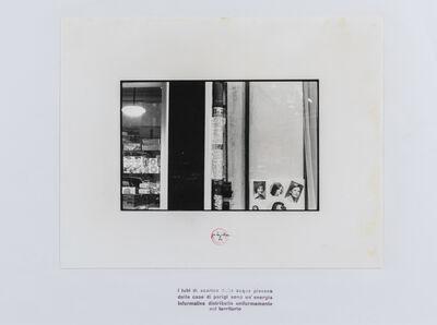 Ugo La Pietra, 'I tubi di scarico delle acque piovane delle case di Parigi…', 1973