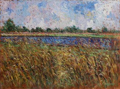 Samir Sammoun, 'Champ de blé et le lac bleu', 2019