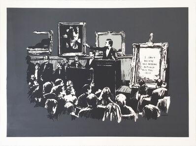 Banksy, 'Morons (Grey) AP - Signed', 2007