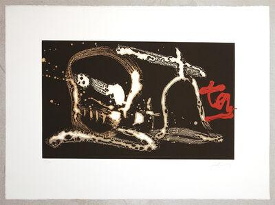 Antoni Tàpies, 'Signes vermells - TAPIES SUCCESSION', 1997