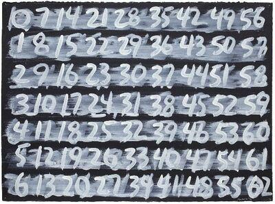 Mel Bochner, 'Counting (1-62)', 1996