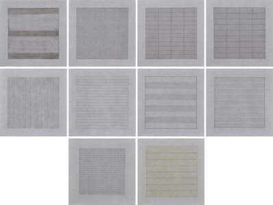 Agnes Martin, 'Paintings and Drawings : Stedelijk Museum Portfolio', 1991