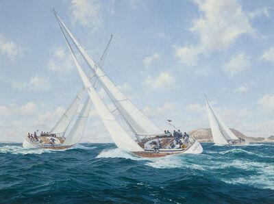 John Steven Dews, 'Crackerjack - The Swan Regatta off Hern'