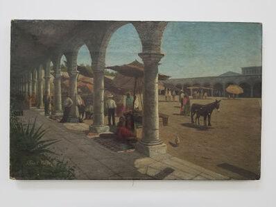 John Franklin Waldo, 'Market place in Mexico', 1885