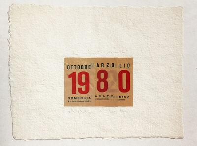 Alighiero Boetti, 'Calendario', 1980