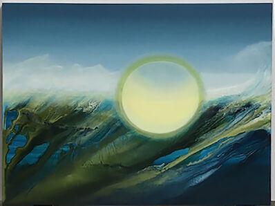 """MB Boissonnault, '""""Teahupo'o"""" Oil on Synthetic Canvas', 2017"""