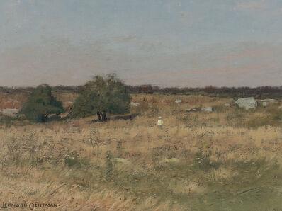 Leonard Ochtman, 'Figure in a Meadow'