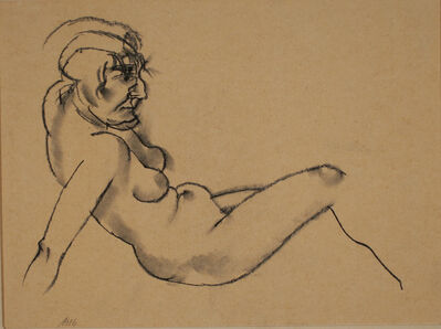 George Grosz, 'Reclining Nude', 1916