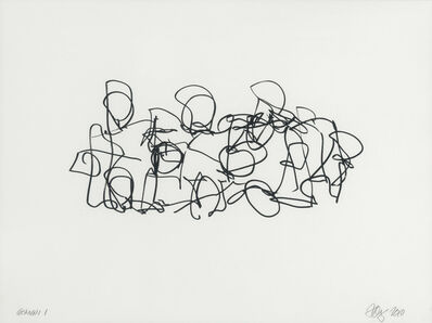 Frank Gehry, 'Puzzled #2 (Black State)', 2012