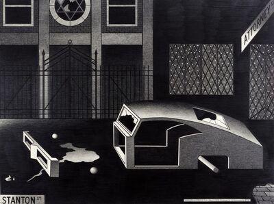 Anton van Dalen, 'Night Synagogue and Stripped Car', 1976