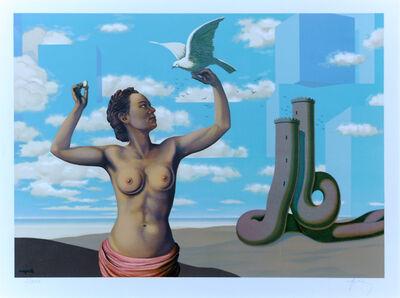 René Magritte, 'Une Jeune Femme Présente avec Grace...', 1968