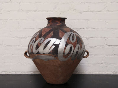 Ai Weiwei, ' Han Dynasty Urn with Coca Cola logo (silver)', 2007