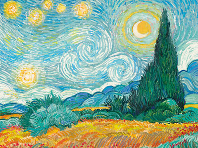 John Myatt, 'Starry Night With Wheat Field and Cypress Trees', 2018