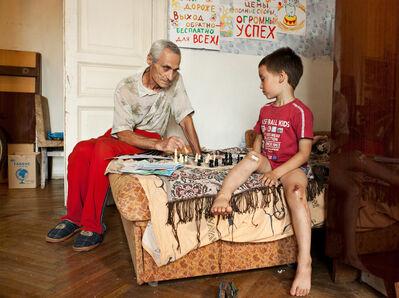 Adad Hannah, 'Chess with Grandson', 2011