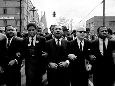 Steve Schapiro, 'Martin Luther King Marching For Voting Rights, Selma', 1965