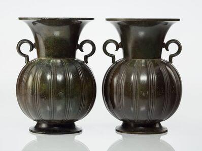 Just Andersen, 'Pair of Handled Vases', 1925