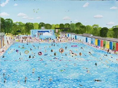 Emma Haworth, 'Summer at the Lido', 2019
