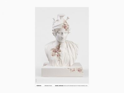 Daniel Arsham, 'Rose Quartz Eroded Bust of Rome Divinisée (Signed)', 2020