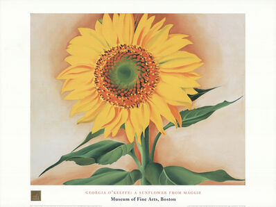 Georgia O'Keeffe, 'A Sunflower From Maggie', 1998