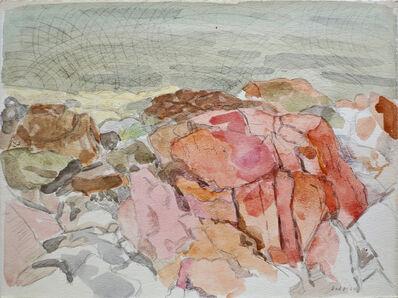 Lois Dodd, '(Pink Rocks) Coastal Rock', 1964