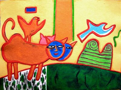 Guillaume Corneille, 'LES CHATS CHAMPETRES '