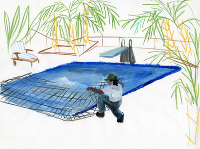 Ramiro Gomez, 'Untitled (Pool Man)', 2012
