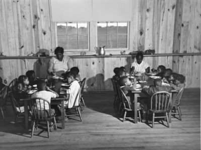 Marion Post Wolcott, 'Hot lunches for children of agricultural workers in day nursery of Okeechobee Migratory Labor Camp, Belle Glade, FL', 1941