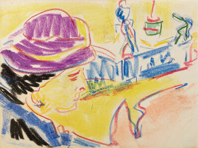 Ernst Ludwig Kirchner, 'Portrait of a Woman in a Hat', ca. 1910