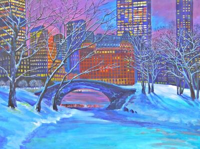 Thelma Appel, 'Night Snow in Central Park', 2013