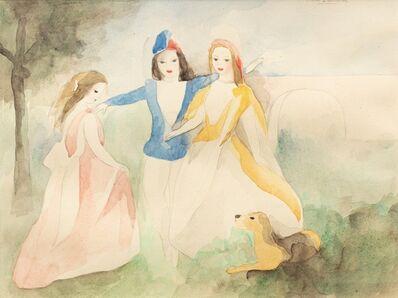 Marie Laurencin, 'Trois femmes jouant avec un chien', 1883-1956