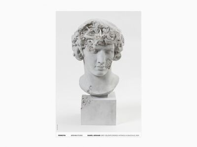 Daniel Arsham, 'Grey Selenite Eroded Antinous as Bacchus (Signed)', 2020