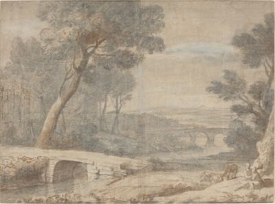 after Claude Lorrain, 'The Rest on the Flight into Egypt', late 17th century