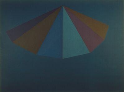 "Sol LeWitt, 'A Pyramid (from the portfolio ""For Joseph Beuys"")', 1986"