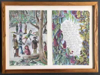 Katie Pell, 'Tree Book: Freeze Diptych', 2010