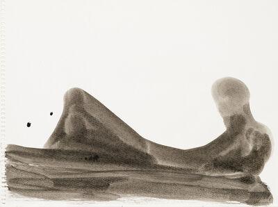 Michael Croissant, 'Liegende mit aufgestelltem Bein', ca. 1980