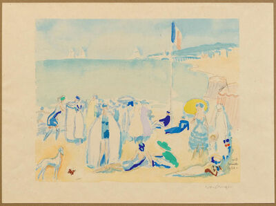 Kees van Dongen, 'Deauville 1920, Beach scene'