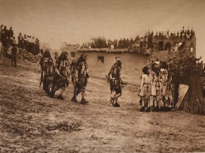 Edward Sheriff Curtis, 'Snake Dancers Entering The Plaza', 1921