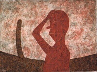 Rufino Tamayo, 'Busto en Rojo ( Bust in Red)', 1984