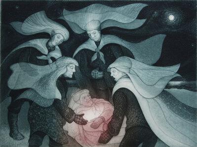 David Blackwood, 'Fallen Mummer on Brookfield Marsh', 1996