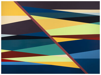 Odili Donald Odita, 'Red Line', 2018