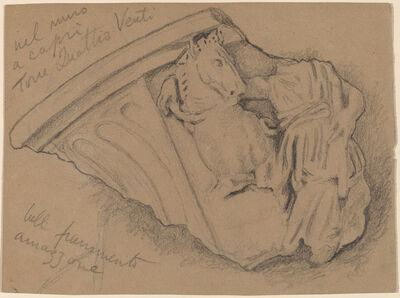 Elihu Vedder, 'Sketch of a Fragment from a Wall in Capri', ca. 1897